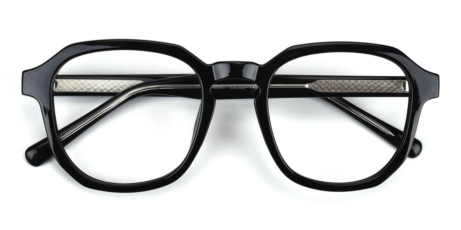 Emmar-Black-Square-Acetate-Eyeglasses-detail
