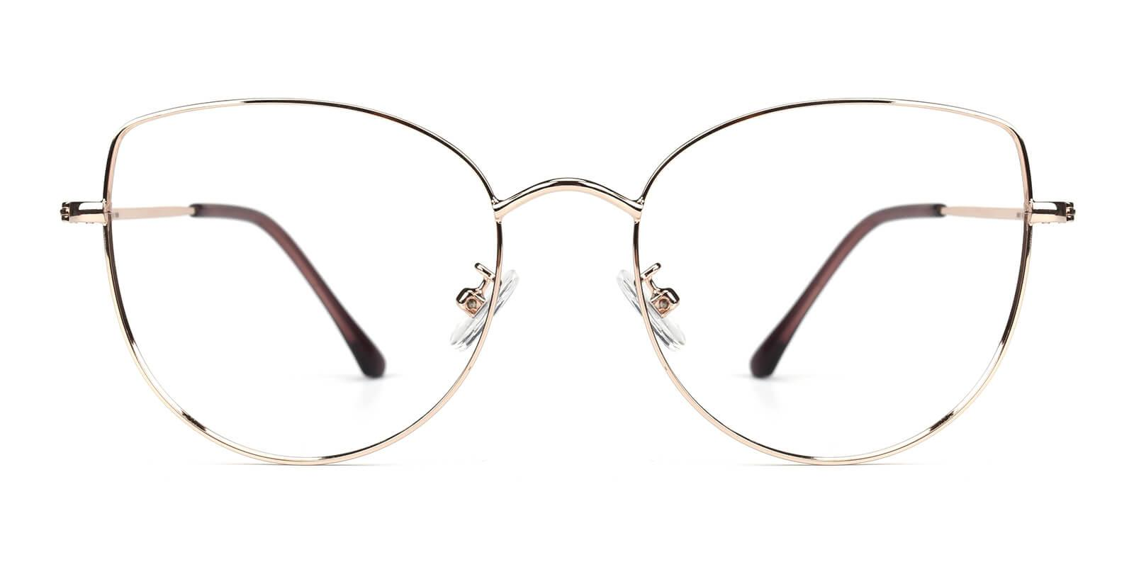 Kayla-Gold-Cat-Metal-Eyeglasses-detail