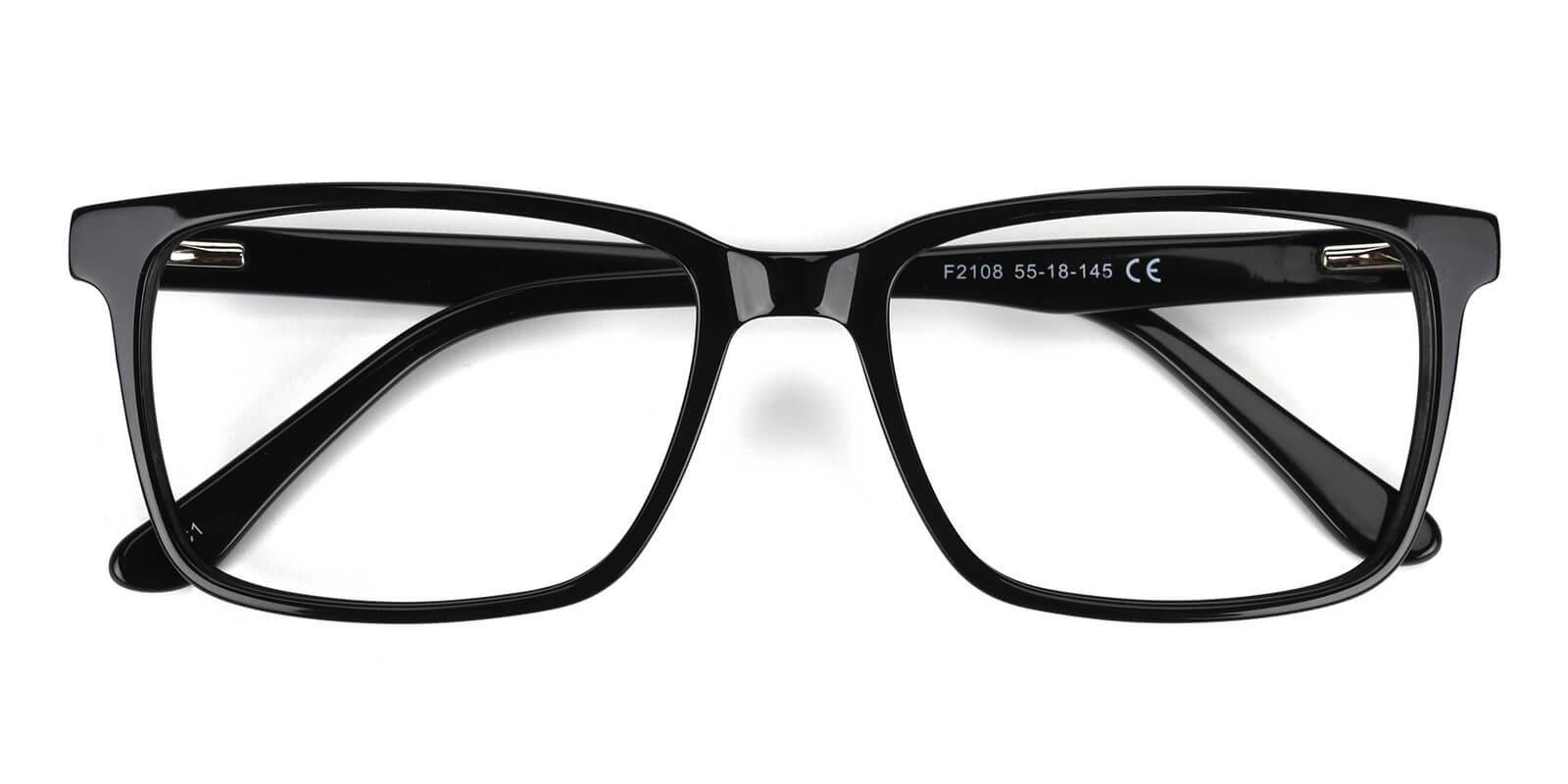Sakou-Black-Square-Acetate-Eyeglasses-detail