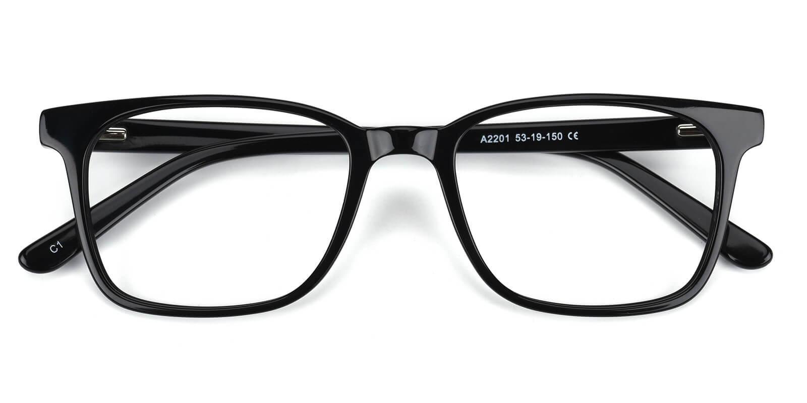Kattan-Black-Square-Acetate-Eyeglasses-detail