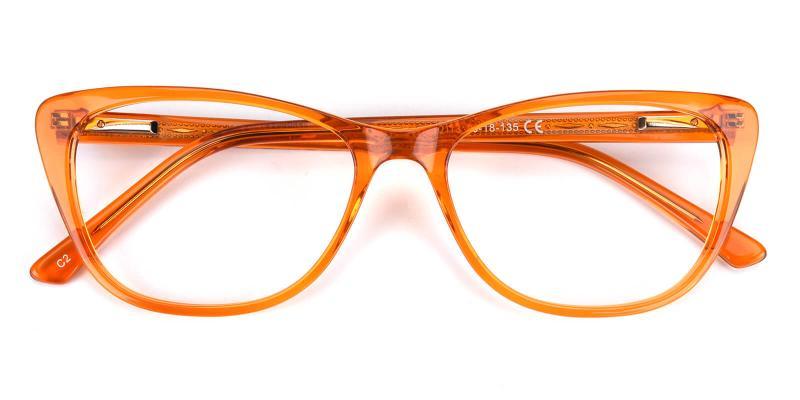 Tersaki-Orange-Eyeglasses