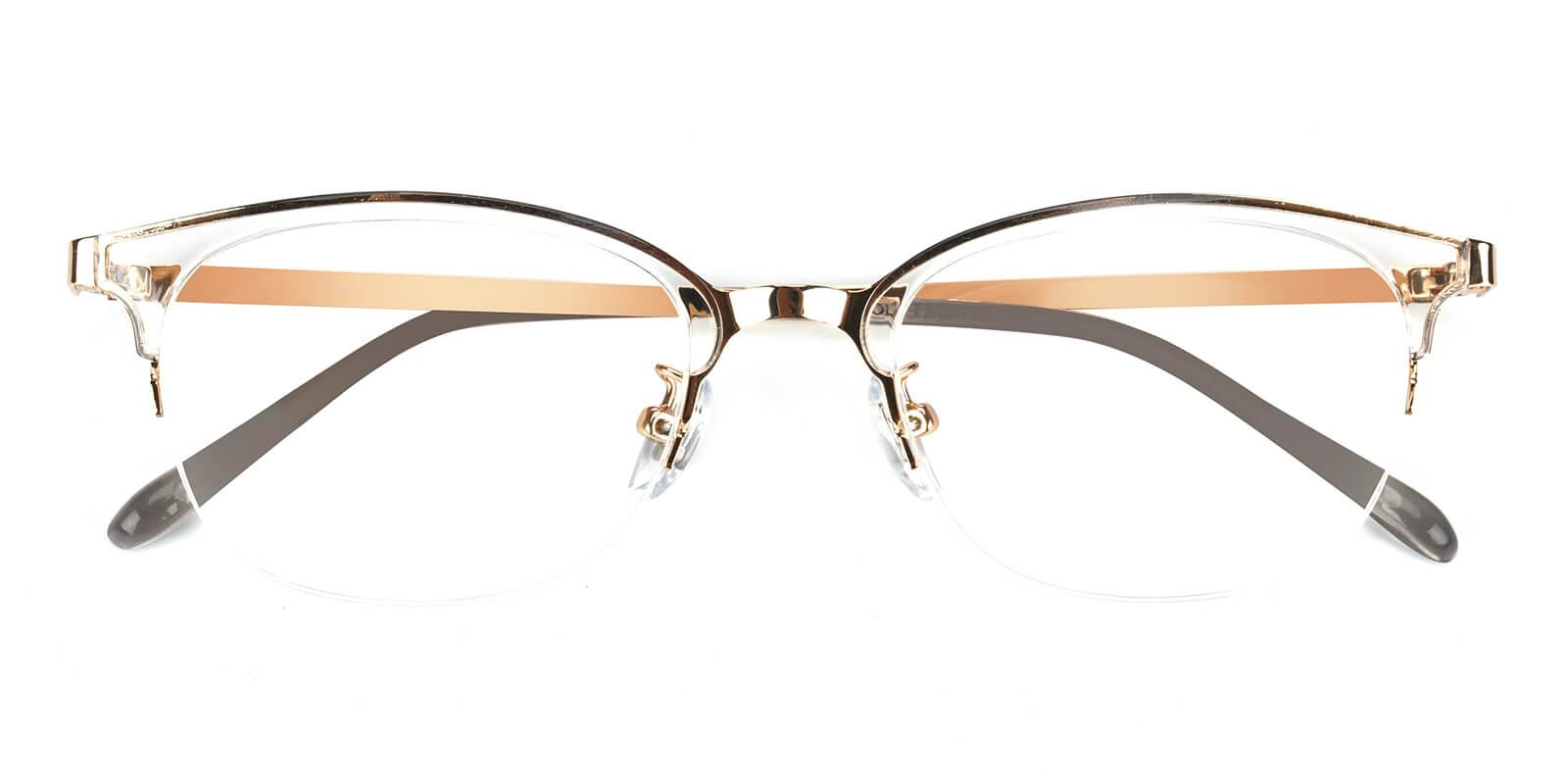 Snob-Gold-Browline-Combination-Eyeglasses-detail
