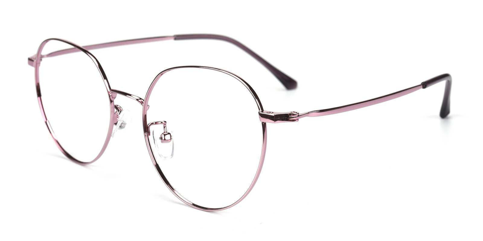 Amorous-Purple-Round-Metal-Eyeglasses-additional1
