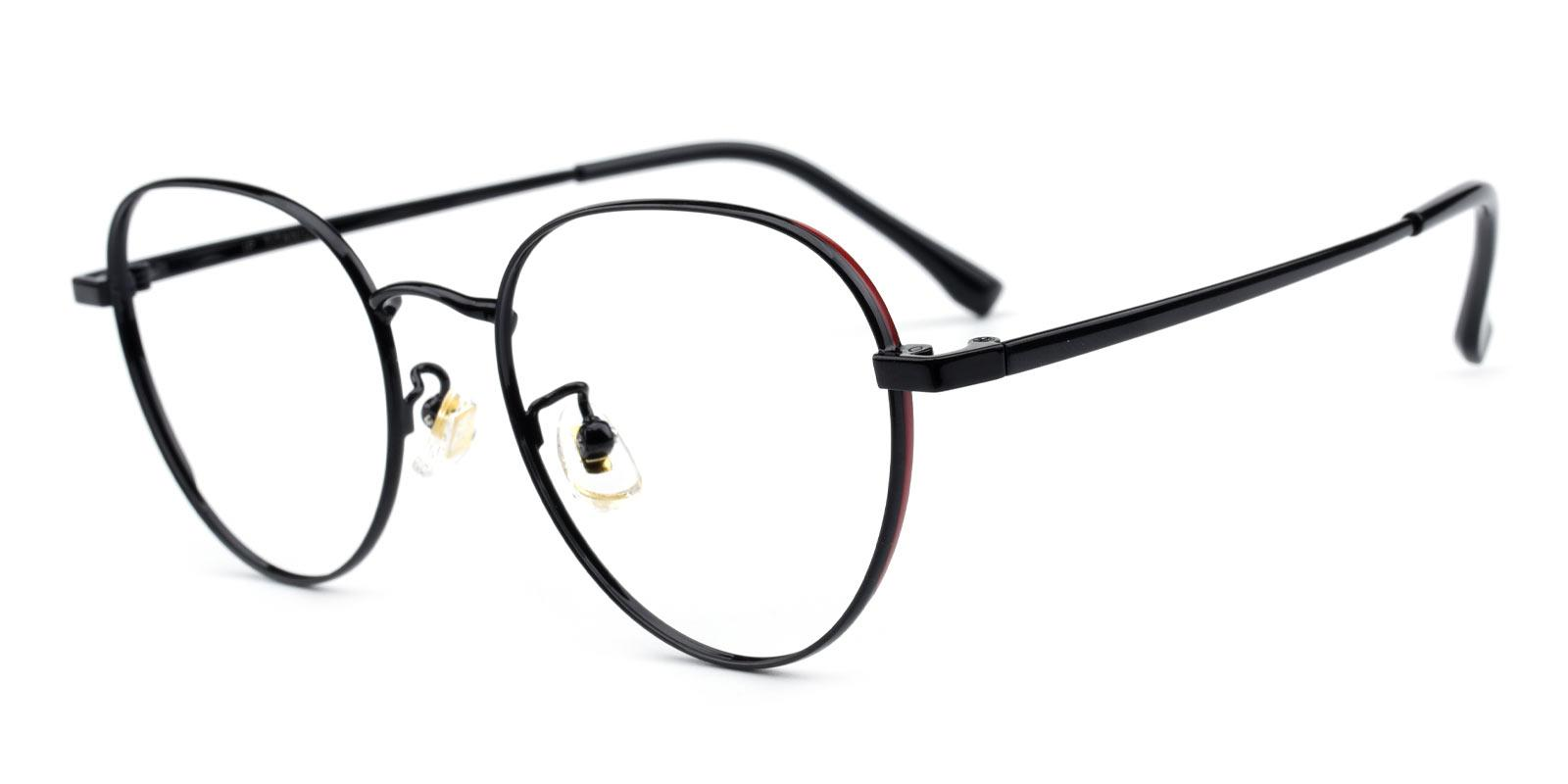 Serina-Black-Round-Titanium-Eyeglasses-additional1