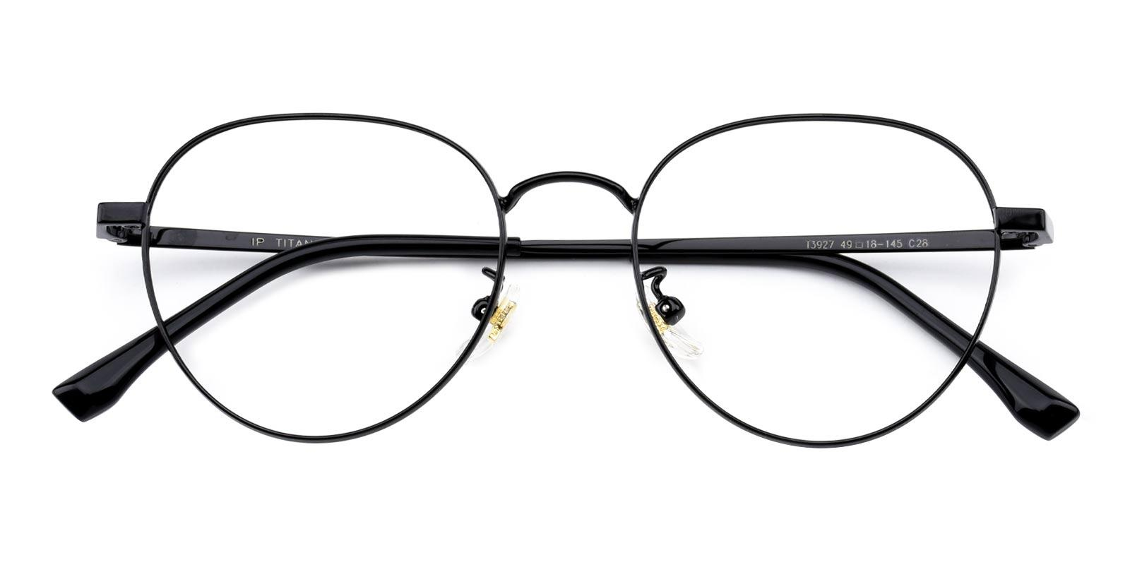 Serina-Black-Round-Titanium-Eyeglasses-detail