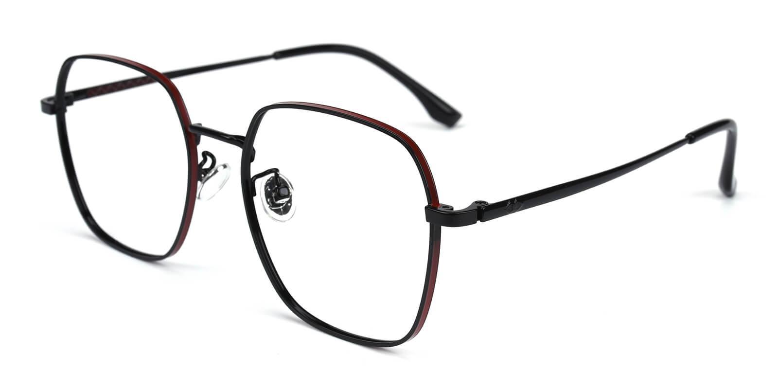 Vincoy-Black-Square-Metal-Eyeglasses-additional1