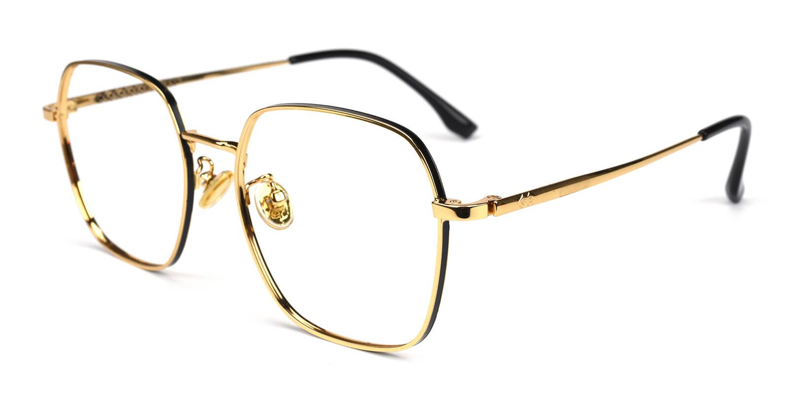 Vincoy-Gold-Square-Metal-Eyeglasses-additional1