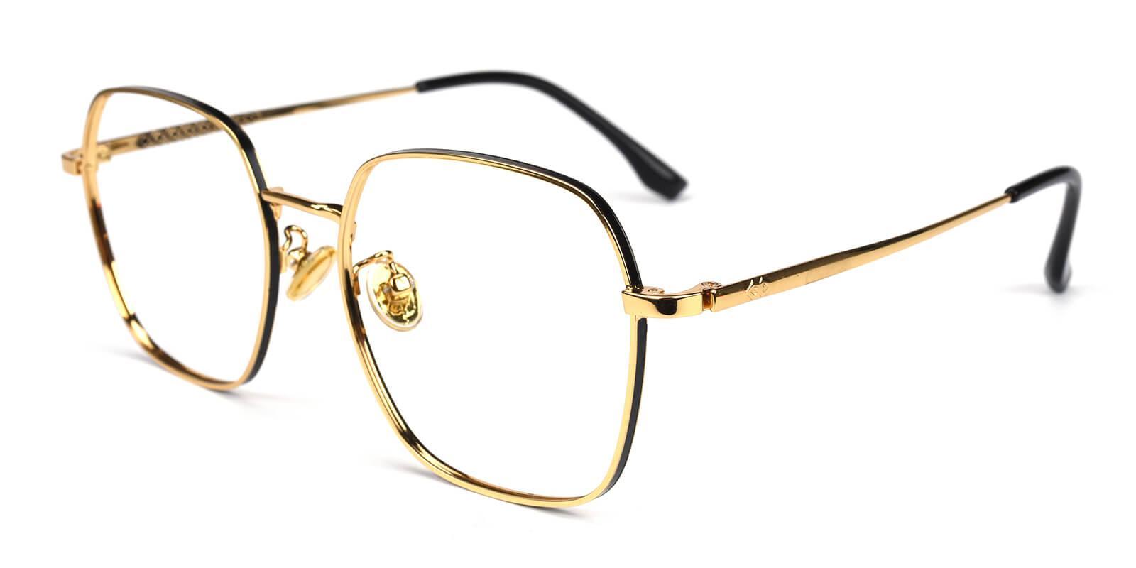 Vincoy-Gold-Square-Metal-Eyeglasses-detail