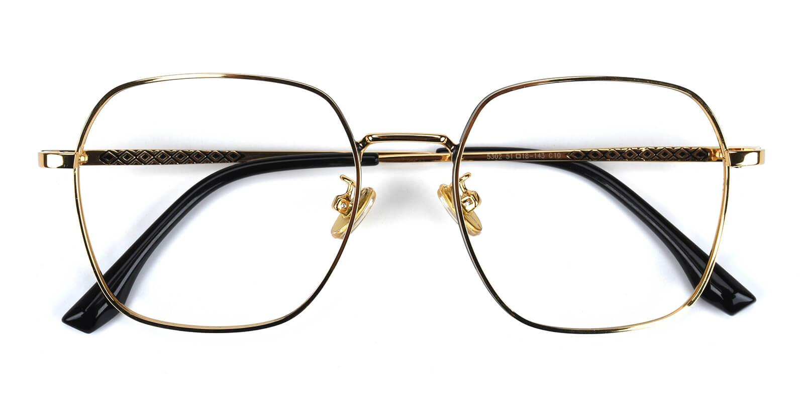 Vincoy-Gold-Square-Metal-Eyeglasses-detail