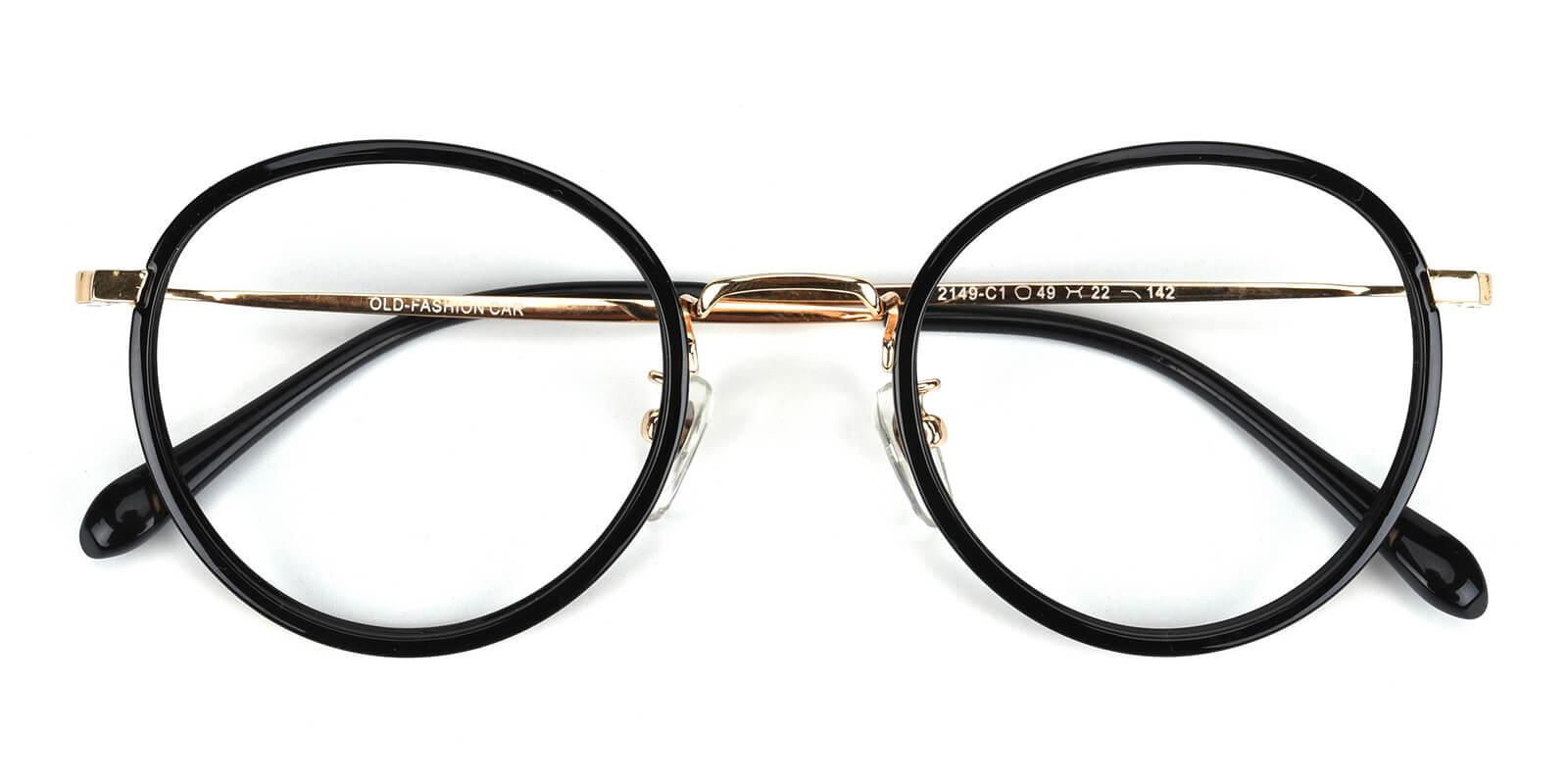 Harmt-Black-Round-Combination-Eyeglasses-detail