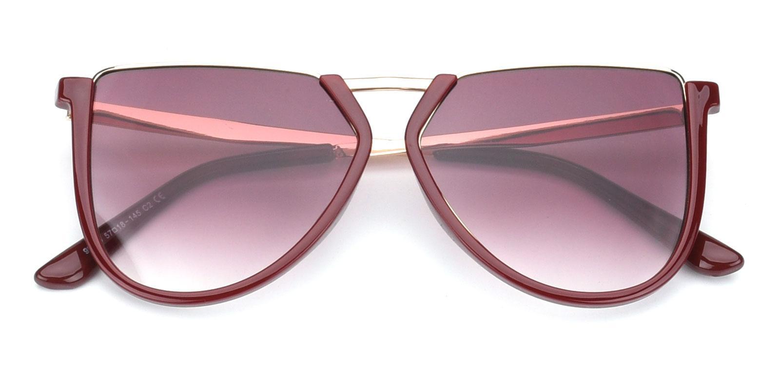 Echo-Red-Geometric-Combination-Sunglasses-detail