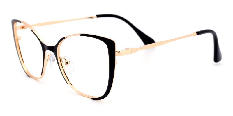 Flora-Black-Eyeglasses
