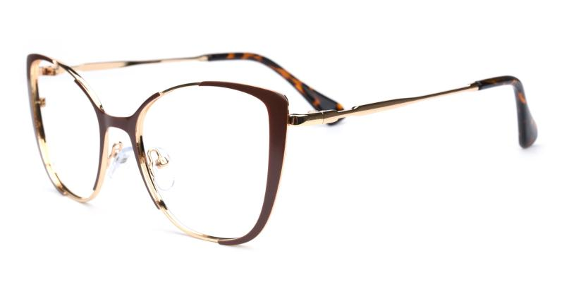 Flora-Brown-Eyeglasses