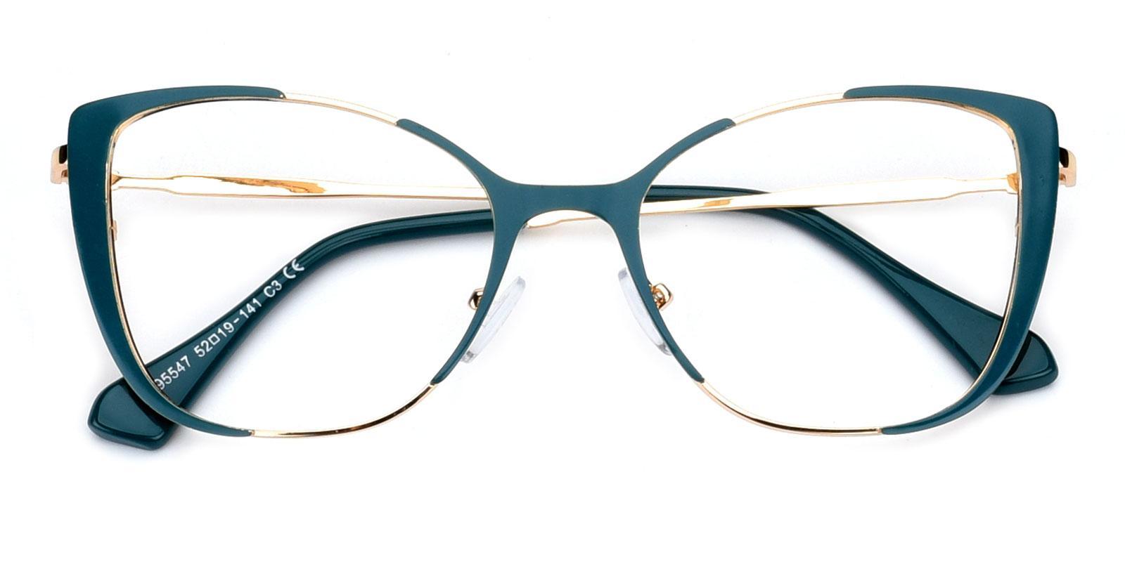 Flora-Green-Cat-Combination-Eyeglasses-detail