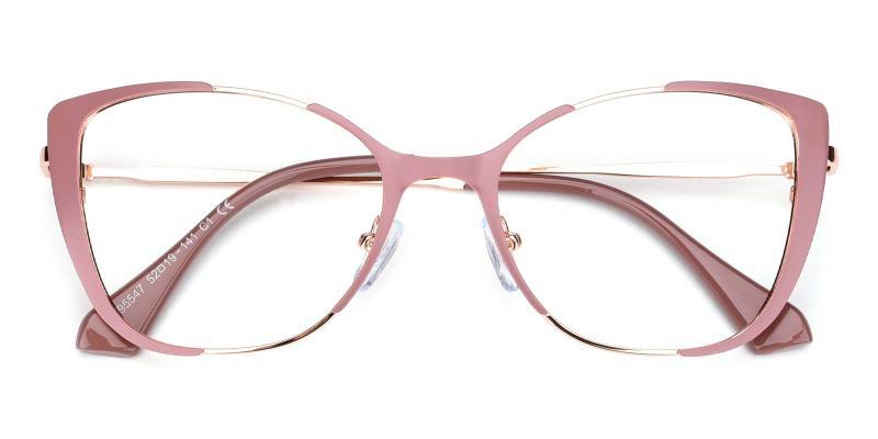 Flora-Pink-Eyeglasses