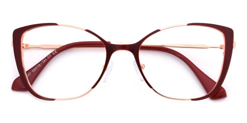 Flora-Red-Eyeglasses