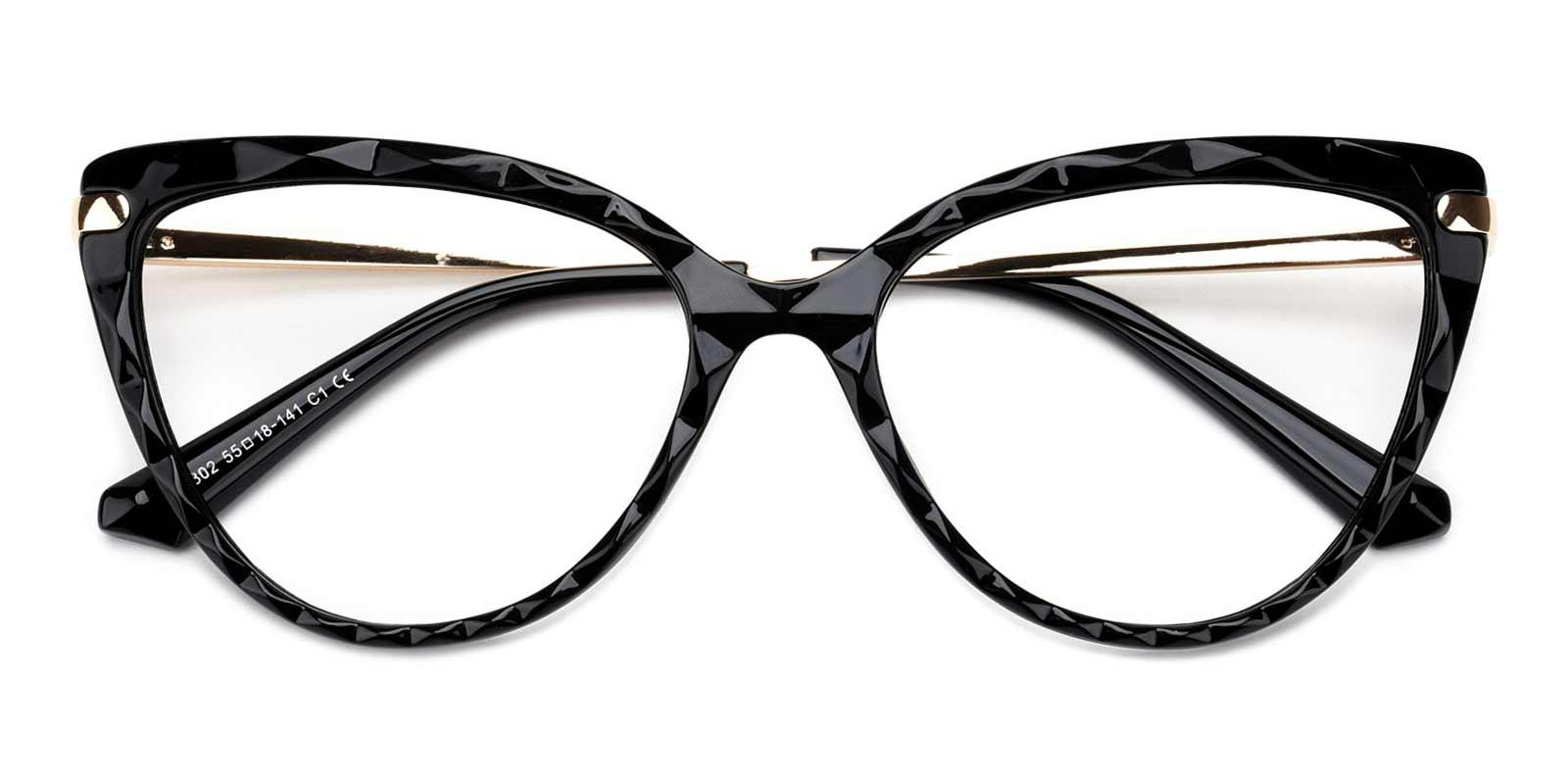 Truda-Black-Cat-Combination-Eyeglasses-detail
