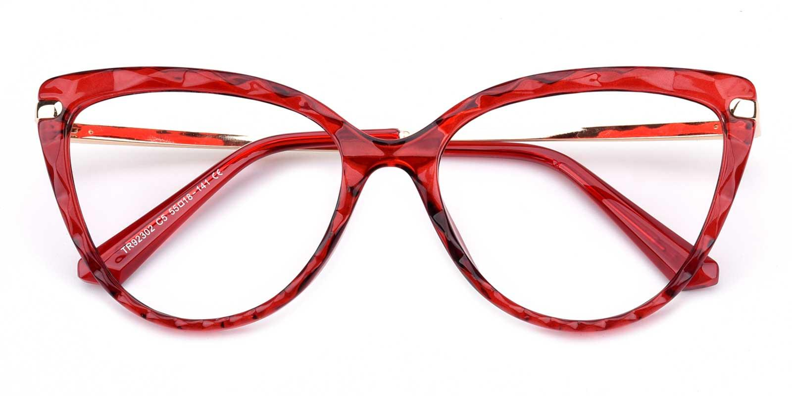 Truda-Red-Cat-Combination-Eyeglasses-detail