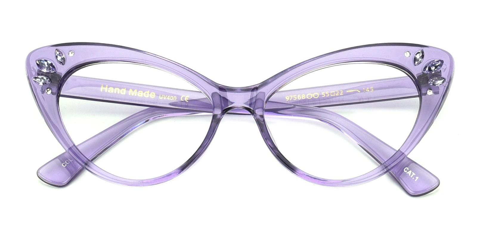 Samber-Purple-Cat-Plastic-Eyeglasses-detail
