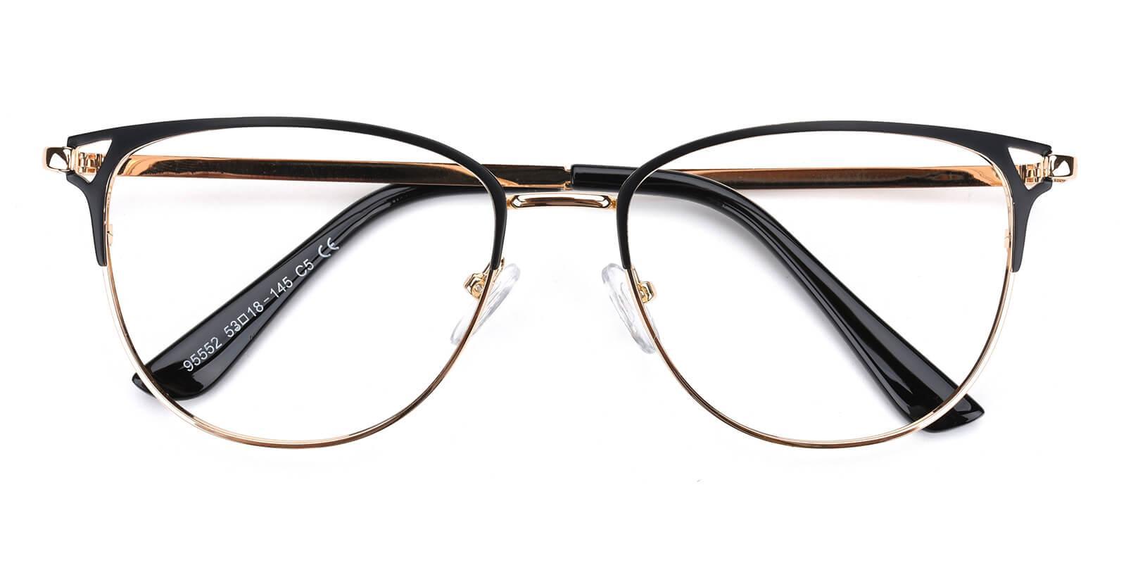 Geraldine-Black-Browline-Metal-Eyeglasses-detail