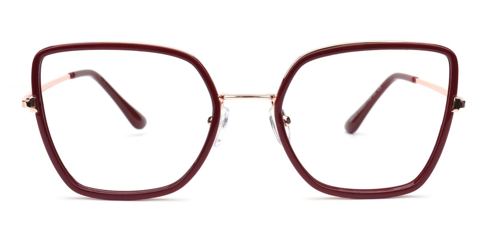 Fay-Red-Geometric-Combination-Eyeglasses-detail