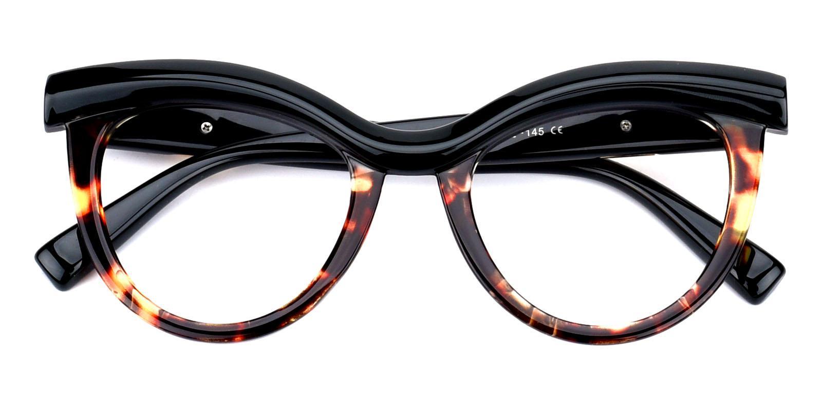 Traci-Green-Cat-Plastic-Eyeglasses-detail