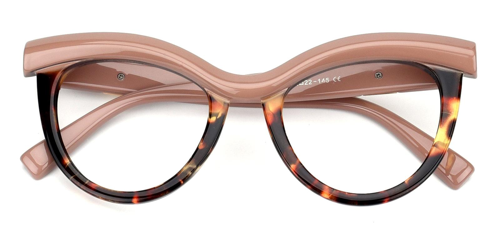 Traci-Pink-Cat-Plastic-Eyeglasses-detail