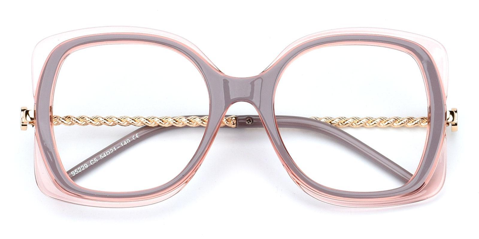 Belinda-Pink-Square-Plastic-Eyeglasses-detail