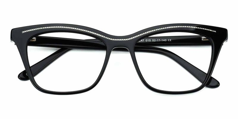 Tina-Black-Eyeglasses
