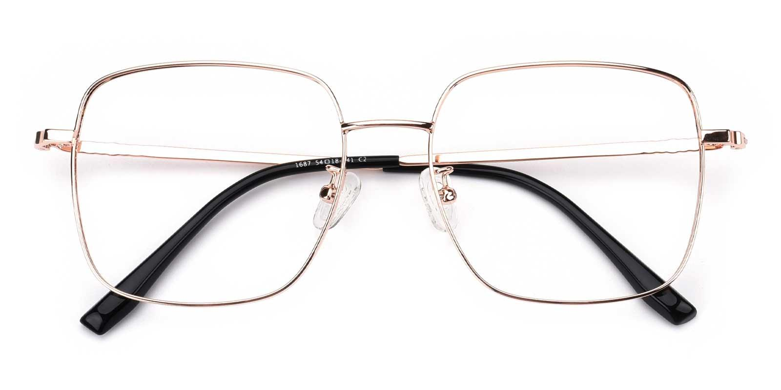 Kelly-Gold-Square-Metal-Eyeglasses-detail