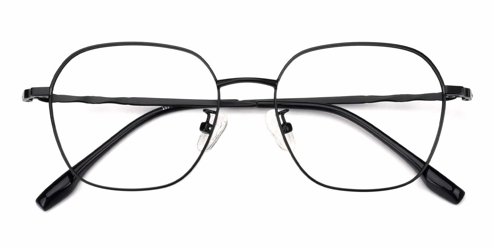Aidan-Black-Square-Metal-Eyeglasses-detail