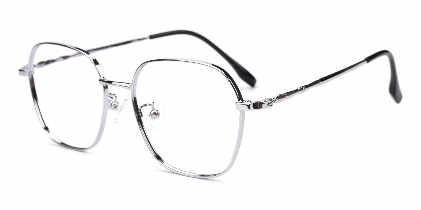 Aidan-Silver-Square-Metal-Eyeglasses-detail