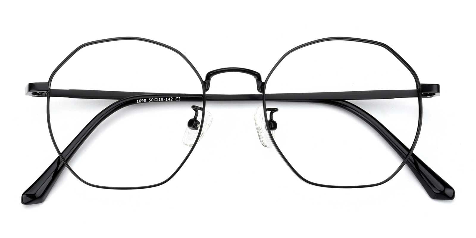 Loren-Black-Geometric-Metal-Eyeglasses-detail