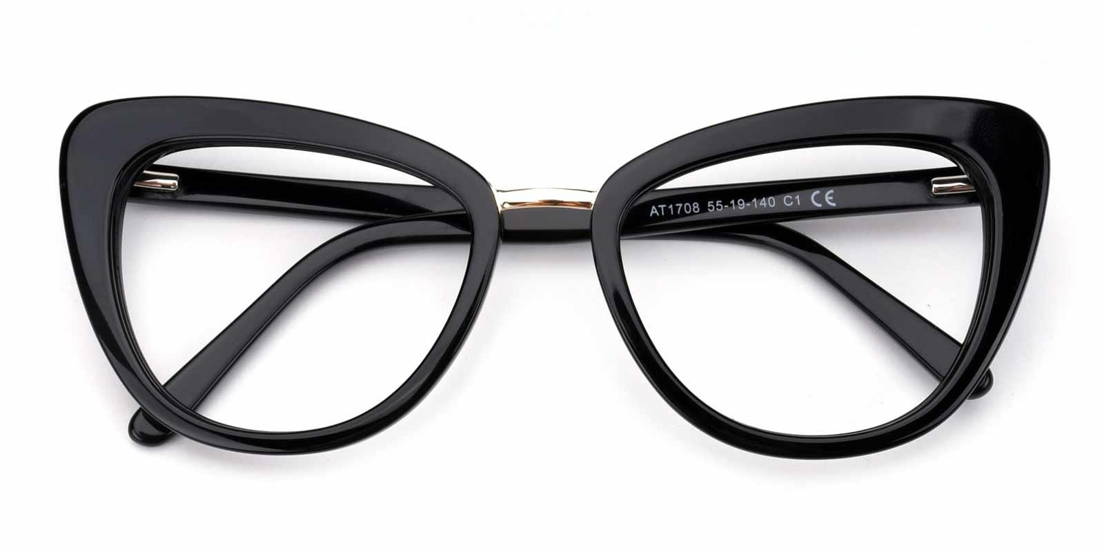 Emma-Black-Cat-Acetate-Eyeglasses-detail