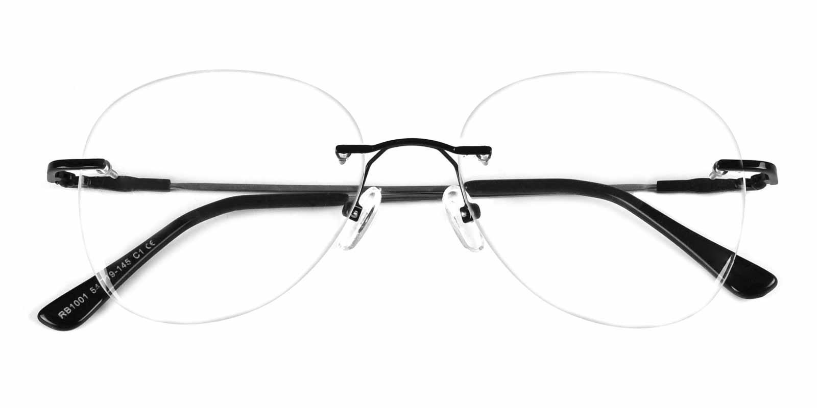 Abbet-Black-Aviator-Metal-Eyeglasses-detail