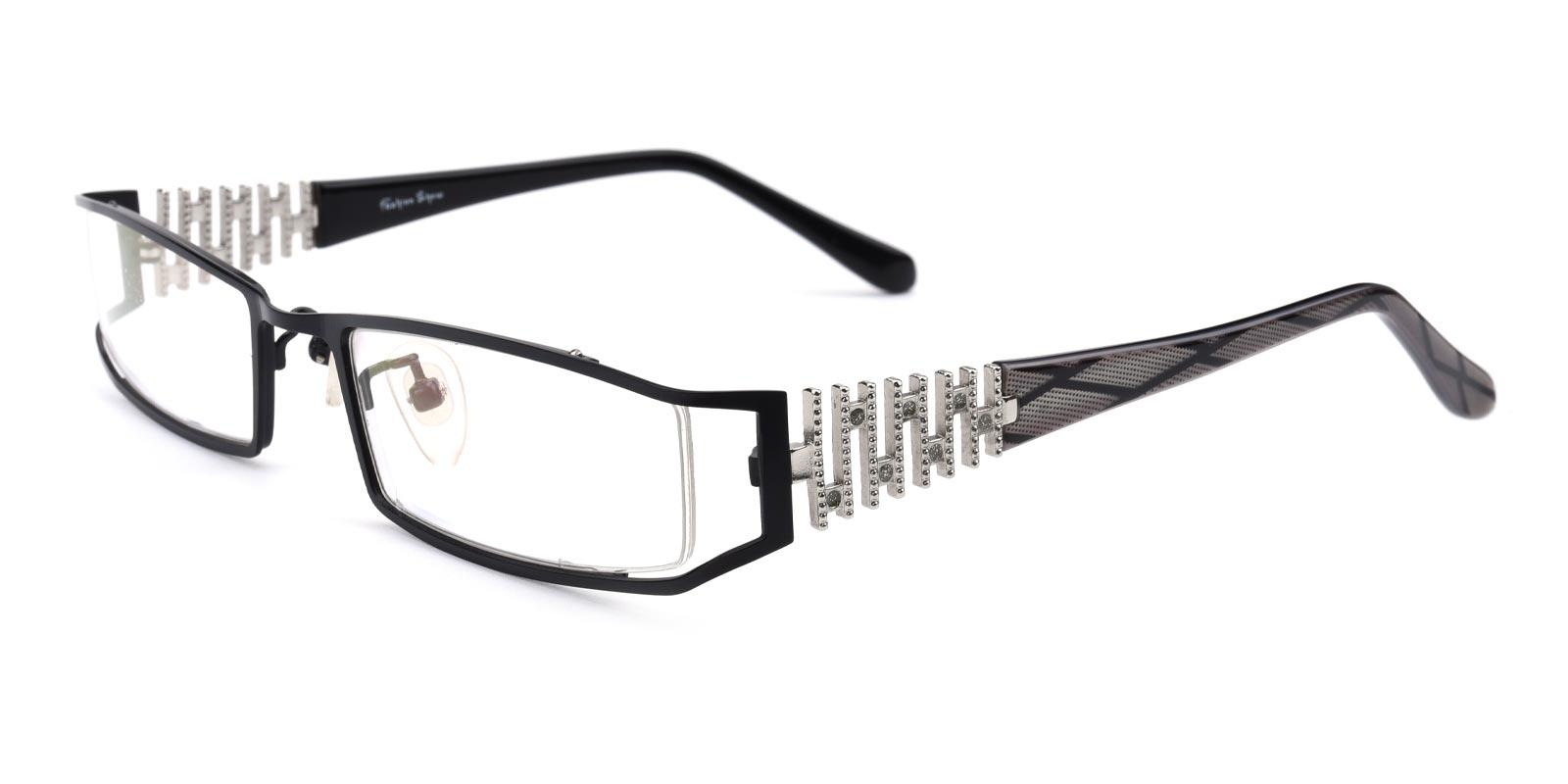 Akili-Black-Rectangle-Metal-Eyeglasses-additional1