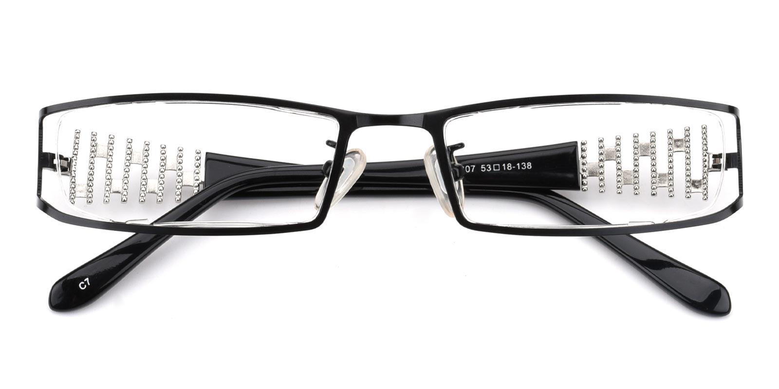 Akili-Black-Rectangle-Metal-Eyeglasses-detail