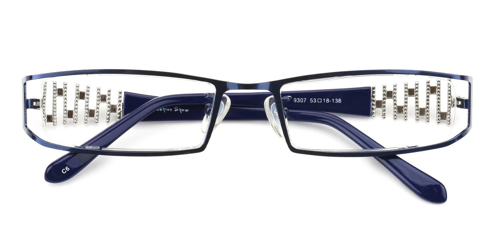 Akili-Blue-Rectangle-Metal-Eyeglasses-detail