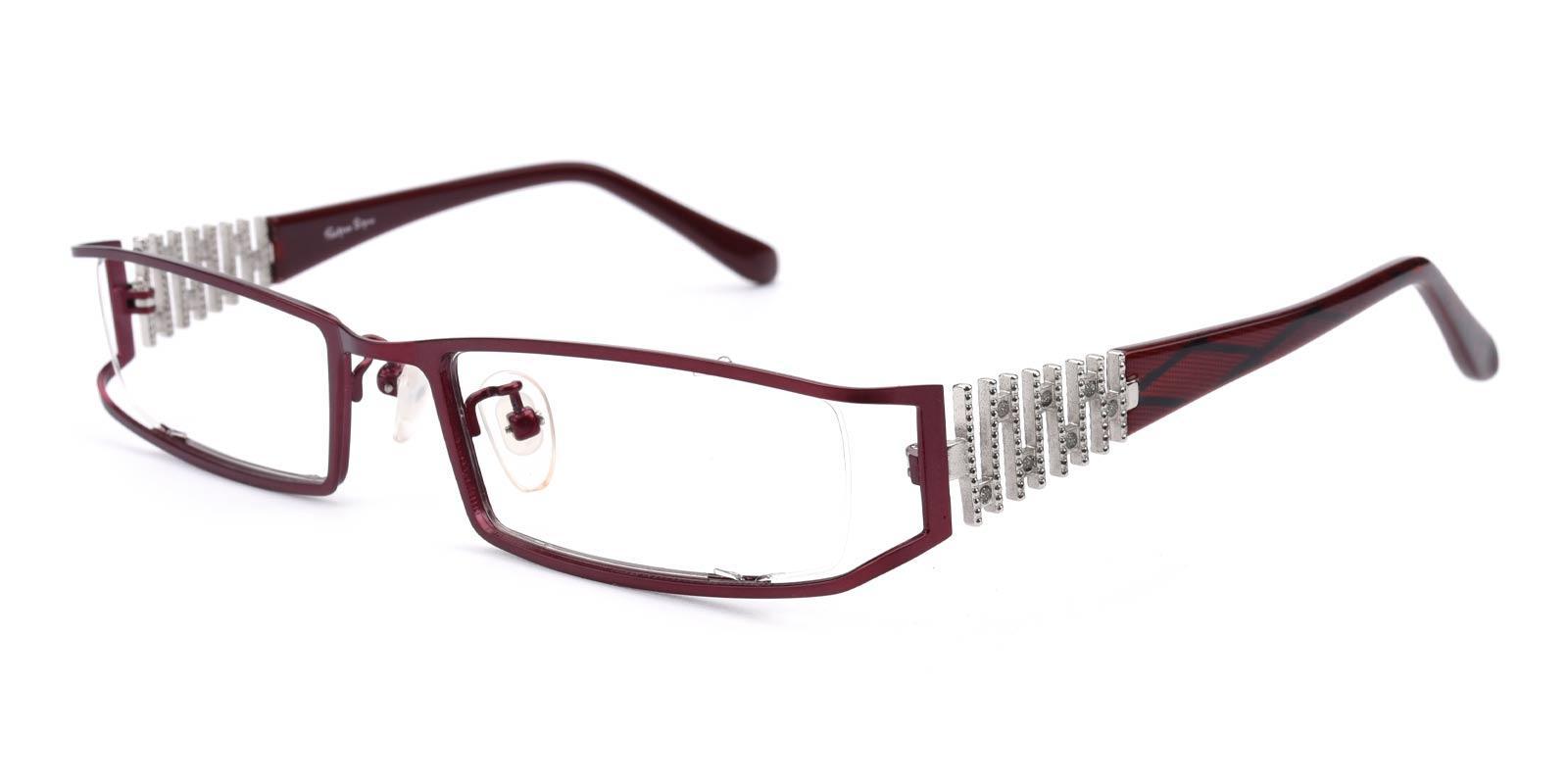 Akili-Red-Rectangle-Metal-Eyeglasses-additional1