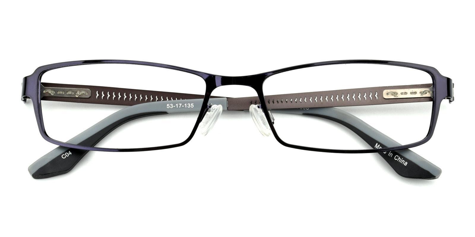 Benson-Black-Rectangle-Metal-Eyeglasses-detail
