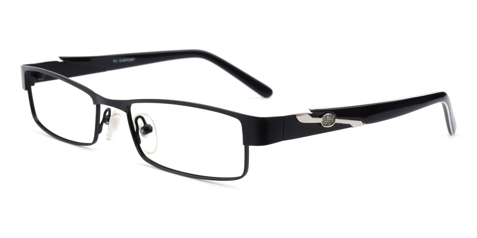 Paul-Black-Rectangle-Metal-Eyeglasses-detail