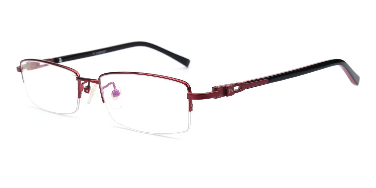 Coliny-Red-Rectangle-Metal-Eyeglasses-additional1