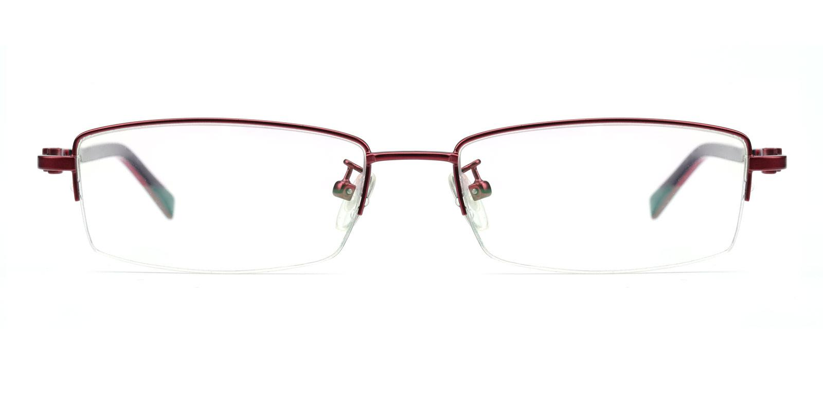 Coliny-Red-Rectangle-Metal-Eyeglasses-additional2