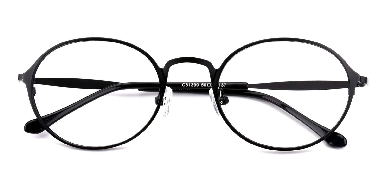 Gulio-Black-Oval-Metal-Eyeglasses-detail