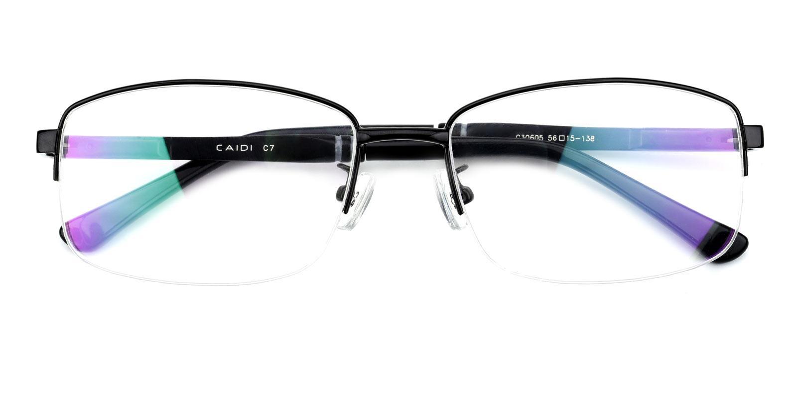 Karma-Black-Rectangle-Metal-Eyeglasses-detail