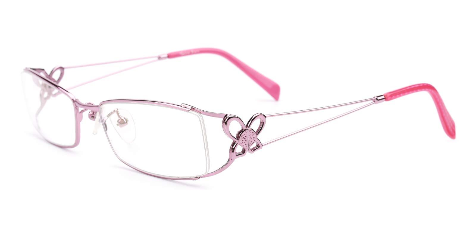 Kate-Pink-Rectangle-Metal-Eyeglasses-additional1