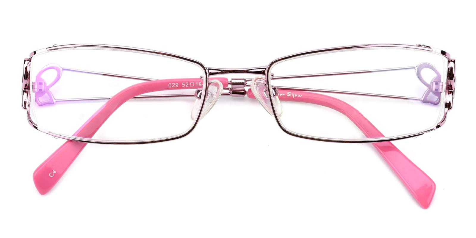 Kate-Pink-Rectangle-Metal-Eyeglasses-detail