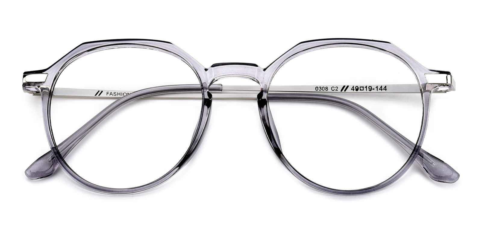 Camellia-Gray-Round-Combination-Eyeglasses-detail