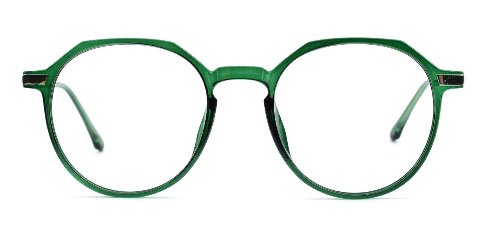 Camellia-Green-Round-Combination-Eyeglasses-detail