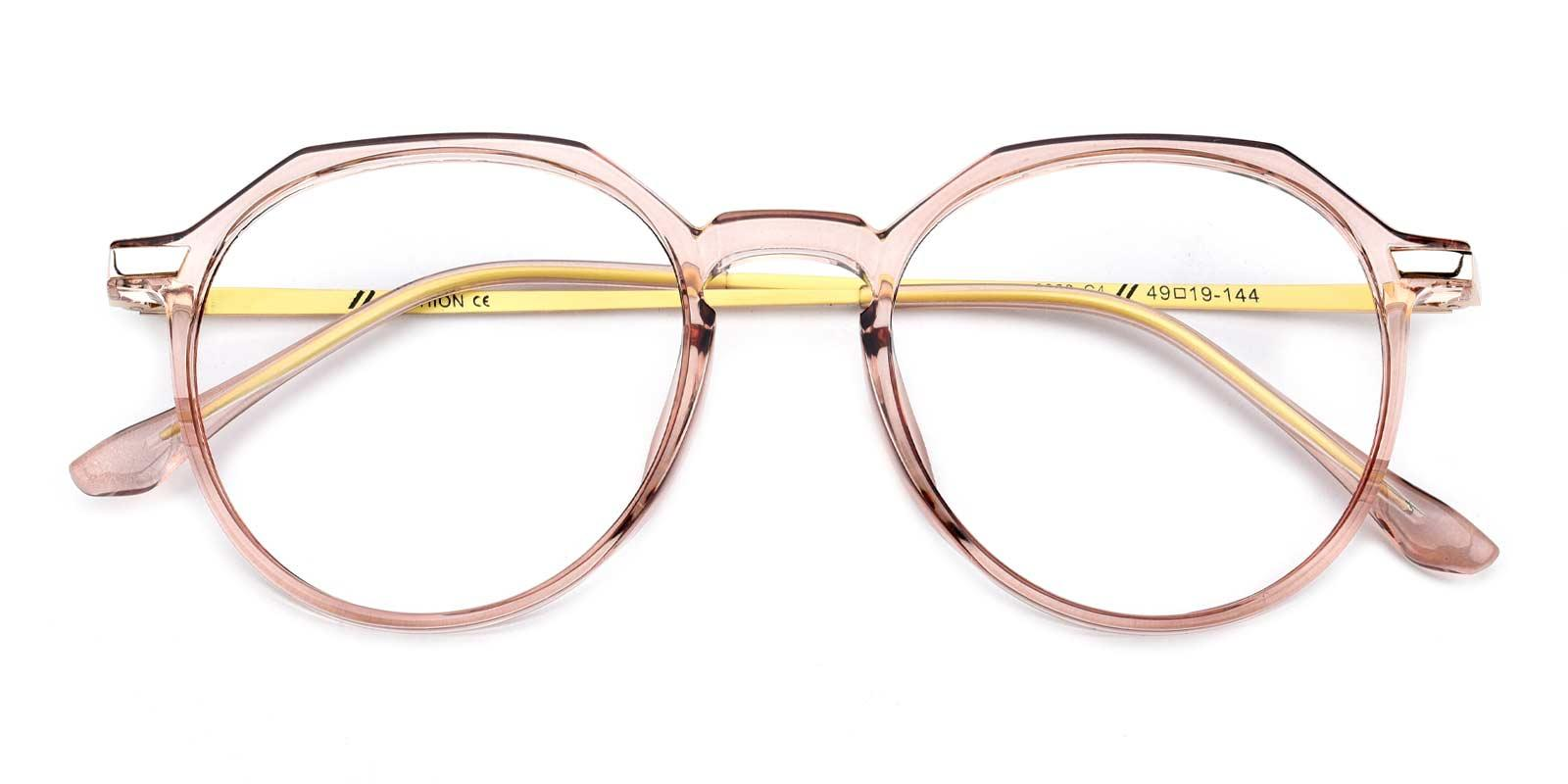 Camellia-Pink-Round-Combination-Eyeglasses-detail
